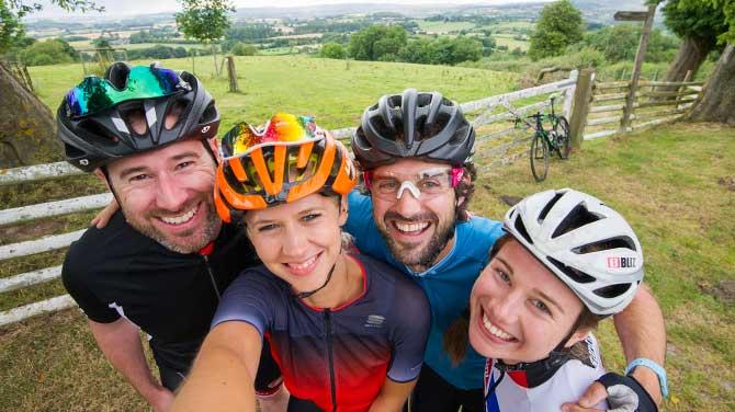 Velo bike ride coming through Wombourne