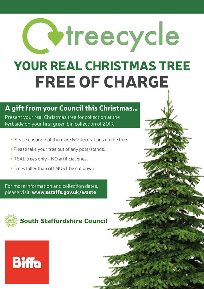 Free Christmas 'Treecycling' for Wombourne